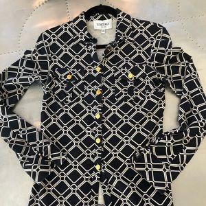 Elizabeth McKay knit button down. Size XS